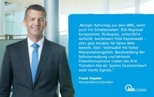 Tweed von Frank Hippler ( IKK Classic am 26.3. 2019 ) zum Faire-Kassenwahl-Gesetz
