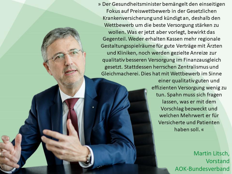 Martin Litsch ( AOK Bundesverband ) zum Faire Kassenwahl Gesetz