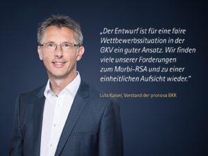 Tweed von Lutz Kaiser ( Vorstand pronova BKK am 26.3. 2019 zum Faire-Kassenwahl-Gesetz )